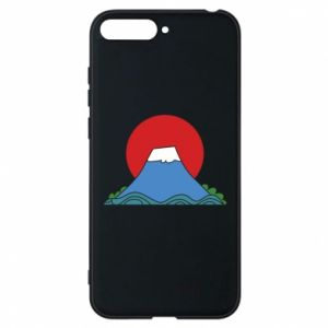 Etui na Huawei Y6 2018 Volcano on sunset background