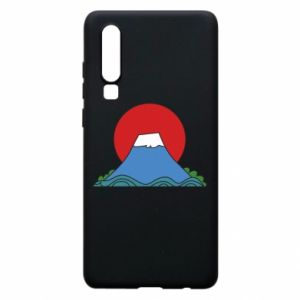 Etui na Huawei P30 Volcano on sunset background