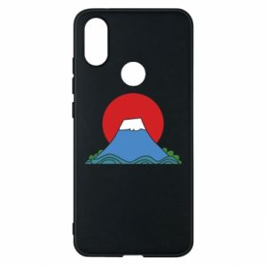 Etui na Xiaomi Mi A2 Volcano on sunset background