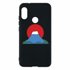 Etui na Mi A2 Lite Volcano on sunset background