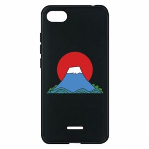 Etui na Xiaomi Redmi 6A Volcano on sunset background