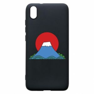 Etui na Xiaomi Redmi 7A Volcano on sunset background
