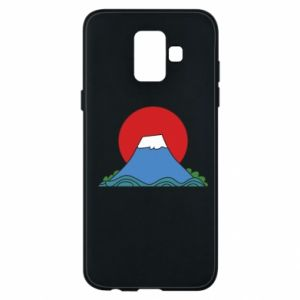Etui na Samsung A6 2018 Volcano on sunset background