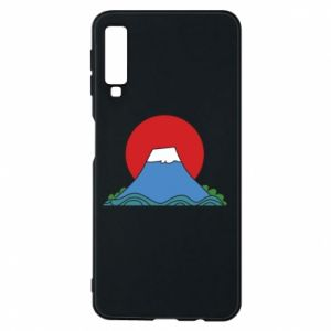 Etui na Samsung A7 2018 Volcano on sunset background