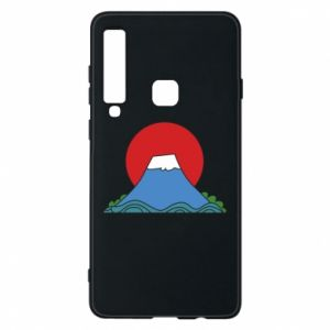 Etui na Samsung A9 2018 Volcano on sunset background
