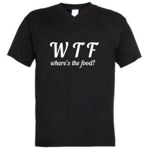 Męska koszulka V-neck W T F ?