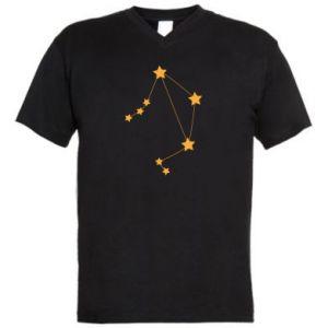 Men's V-neck t-shirt Libra Сonstellation