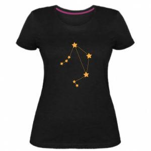 Damska premium koszulka Konstelacja Waga - PrintSalon