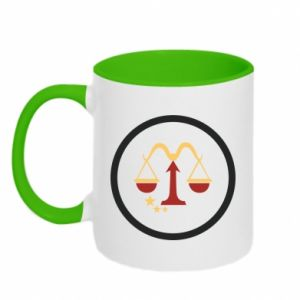 Two-toned mug Libra