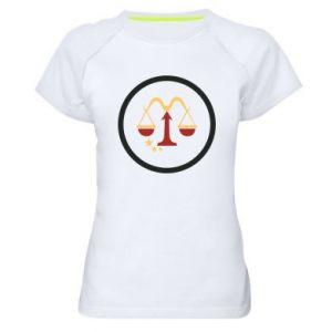 Damska koszulka sportowa Wagi - PrintSalon