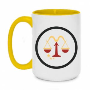 Two-toned mug 450ml Libra