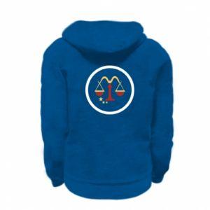 Kid's zipped hoodie % print% Libra