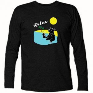 Koszulka z długim rękawem Wakacje nad morzem - PrintSalon
