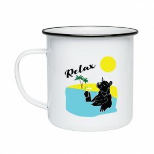 Enameled mug Sea holiday