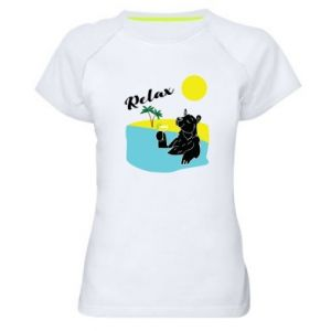 Women's sports t-shirt Sea holiday