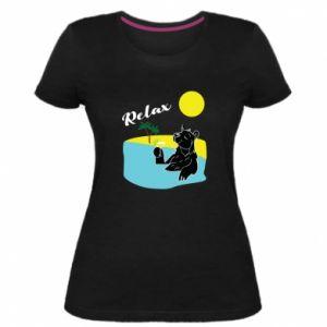 Damska premium koszulka Wakacje nad morzem - PrintSalon