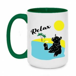 Two-toned mug 450ml Sea holiday