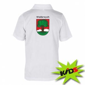 Koszulka polo dziecięca Wałbrzych. Herb