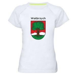 Koszulka sportowa damska Wałbrzych. Herb
