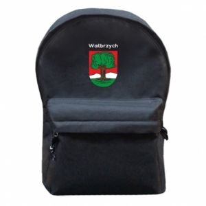 Backpack with front pocket Walbrzych. Emblem