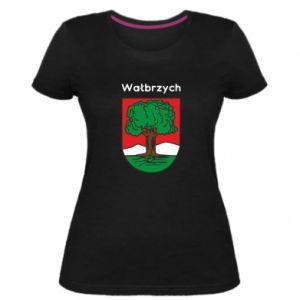 Damska premium koszulka Wałbrzych. Herb