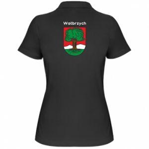 Damska koszulka polo Wałbrzych. Herb
