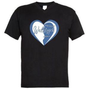 Męska koszulka V-neck Wałbrzych. Moje miasto najlepsze - PrintSalon