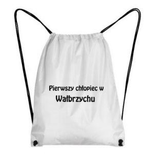 Plecak-worek Pierwszy chłopiec w Wałbrzychu - PrintSalon