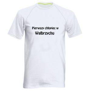Męska koszulka sportowa Pierwszy chłopiec w Wałbrzychu - PrintSalon