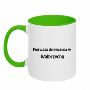 Two-toned mug The first girl in Walbrzych