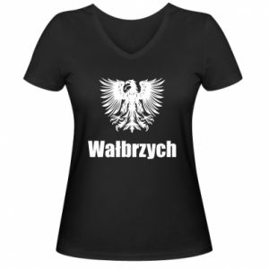 Damska koszulka V-neck Wałbrzych - PrintSalon
