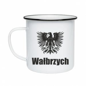 Enameled mug Walbrzych