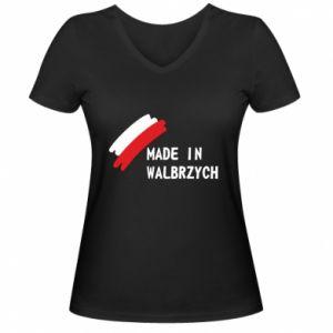Damska koszulka V-neck Made in Walbrzych