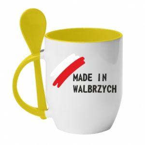 Kubek z ceramiczną łyżeczką Made in Walbrzych