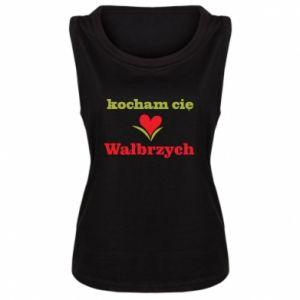 Damska koszulka Kocham cię Wałbrzych - PrintSalon