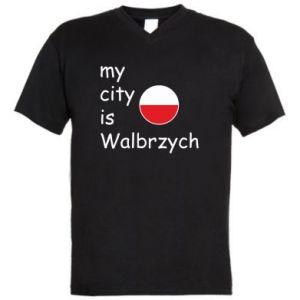 Męska koszulka V-neck My city is Walbrzych