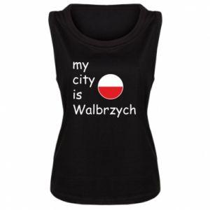 Damska koszulka bez rękawów My city is Walbrzych