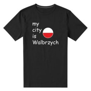 Męska premium koszulka My city is Walbrzych