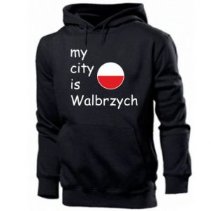 Bluza z kapturem męska My city is Walbrzych