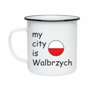 Kubek emaliowane My city is Walbrzych