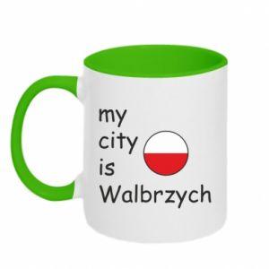 Two-toned mug My city is Walbrzych