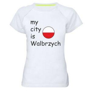 Damska koszulka sportowa My city is Walbrzych