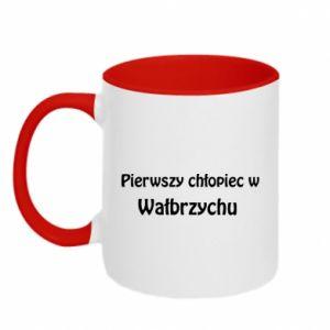Kubek dwukolorowy Pierwszy chłopiec w Wałbrzychu - PrintSalon