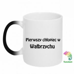 Kubek-kameleon Pierwszy chłopiec w Wałbrzychu - PrintSalon