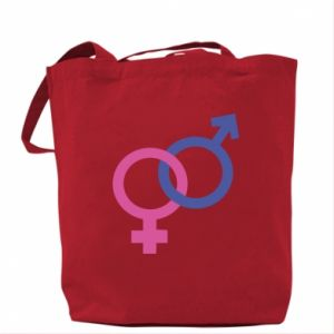 """Bag The signs """"He"""" and """"She"""" are connected"""