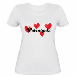 Women's t-shirt Valentine's Day, with hearts