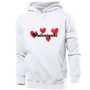 Men's hoodie Valentine's Day, with hearts