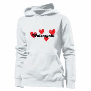 Damska bluza Walentynki, z sercami