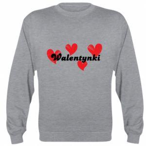 Bluza (raglan) Walentynki, z sercami