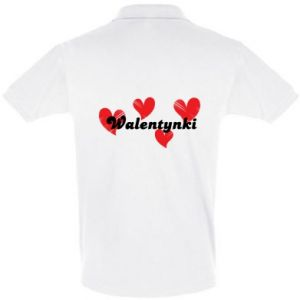 Men's Polo shirt Valentine's Day, with hearts